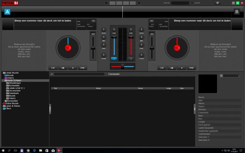 De interface van VirtualDJ 8 biedt ontzettend veel mogelijkheden voor het mixen van muziek.