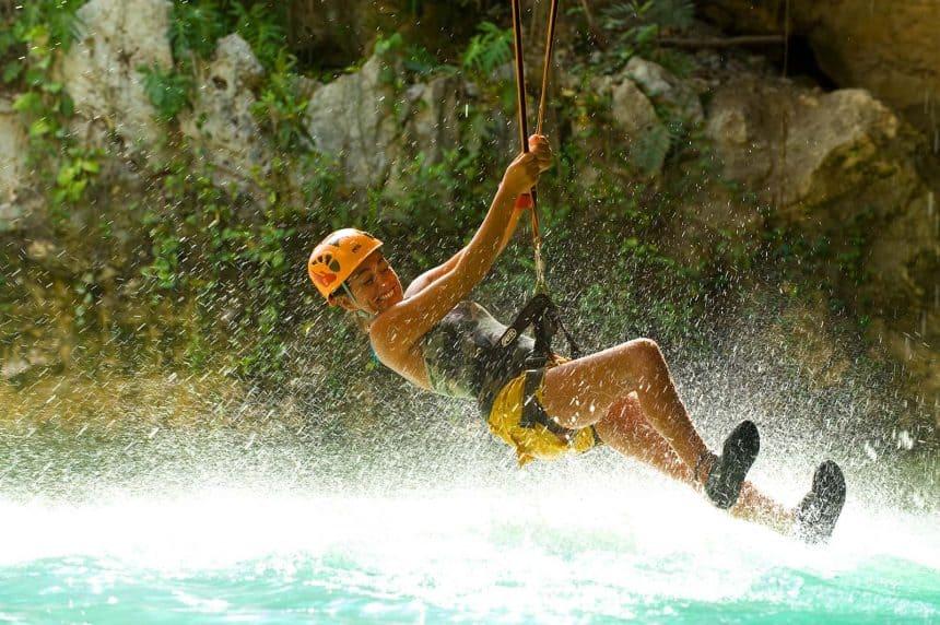 Action activities in Cancun, Mexico - Zip Line in Xplor adventure park