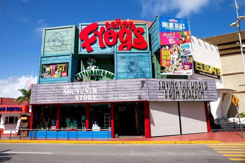 Cancun - Senor Frog's restaurante y bar en la Zona Hotelera