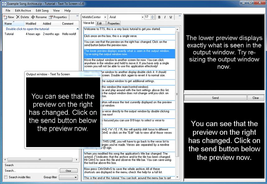 Je kunt met Text To Screen verschillende tekstbestanden tegelijkertijd openen.