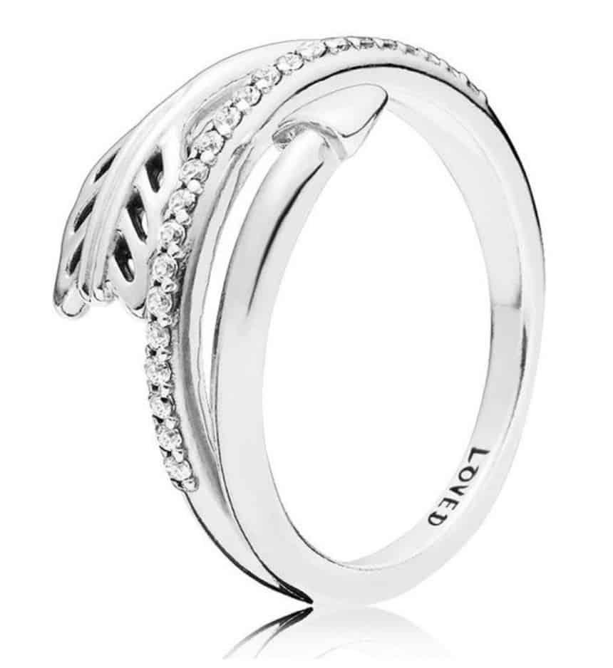 Pandora Charm Replica AliExpress Pendant 002 925 Sterling Silver Sparkling Arrow Ring, Clear CZ for Women Sterling Silver Valentine's Day Gift Sparkling arrow 1