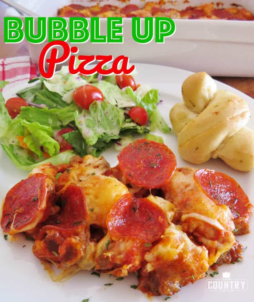 Bubble Up Pizza recipe from The Country Cook