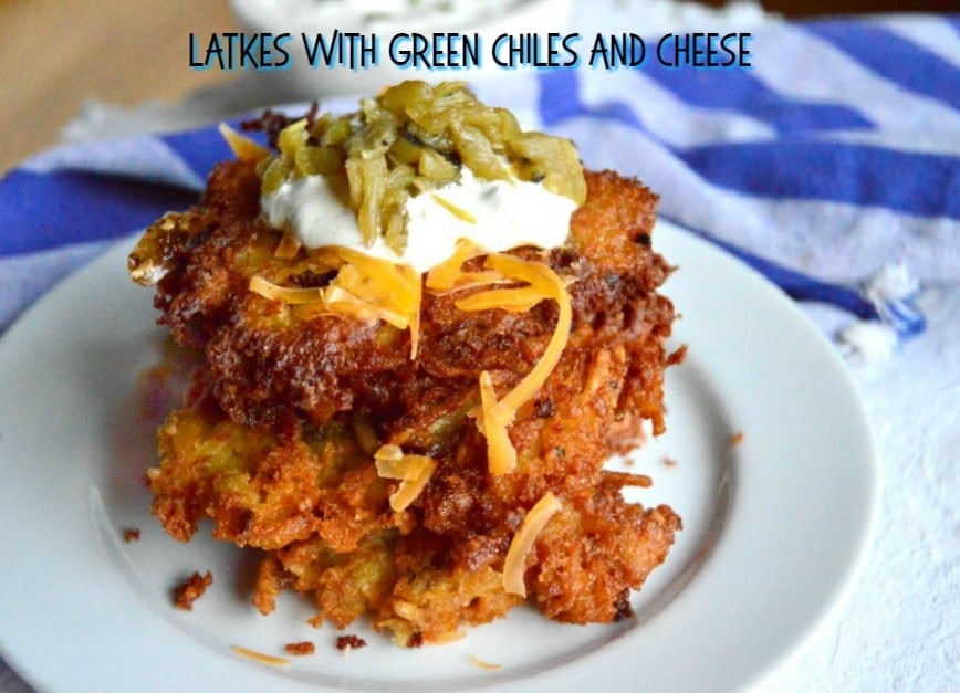 Latkes with Green Chiles and Cheese