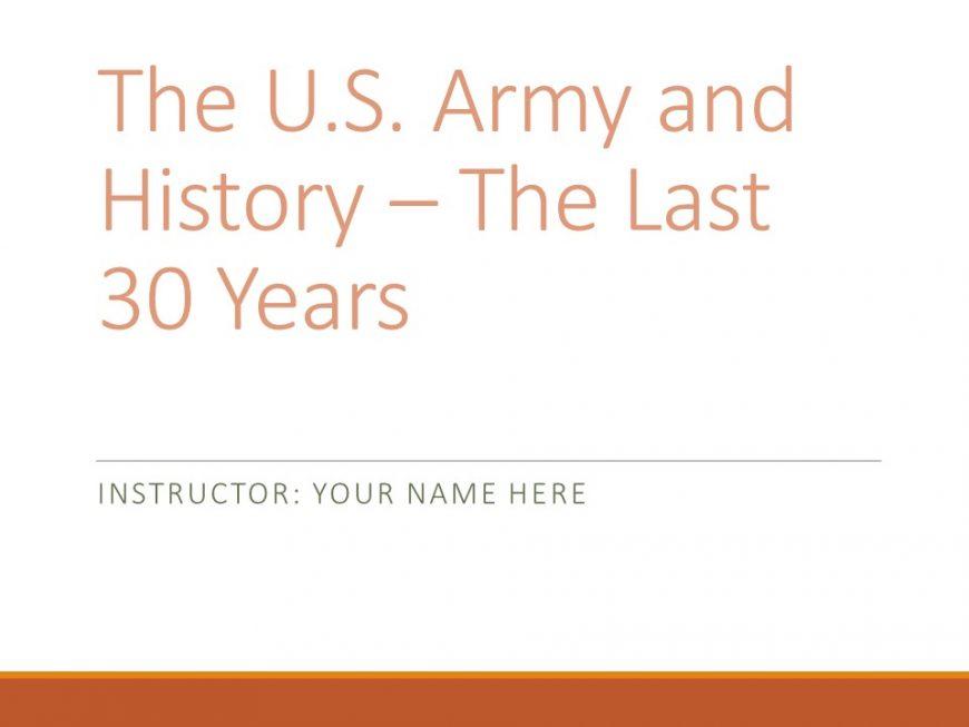 Army History presentation