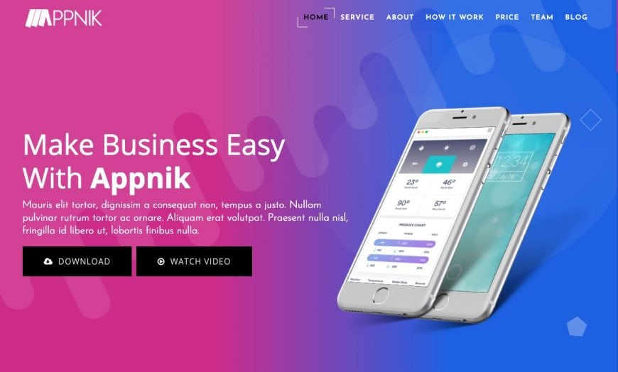 Appnik - Modern App & Product Landing HTML Website Template