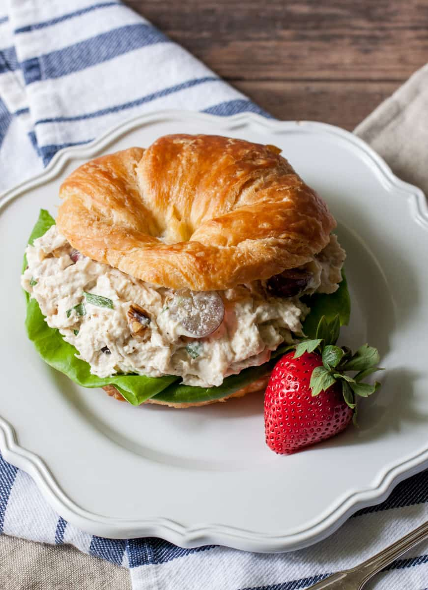 Chicken Salad with Grapes from the side
