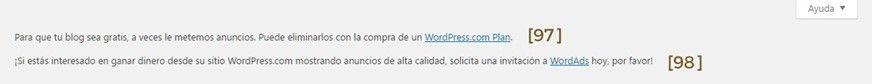 Gestión del menú Configuración de WordPress