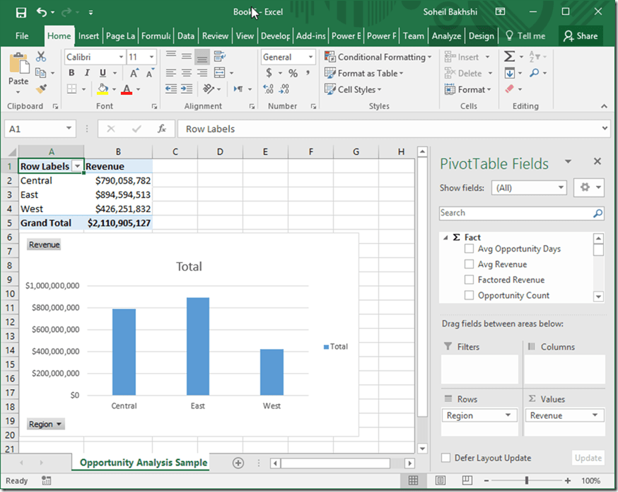 Analyse Power BI Data in Excel