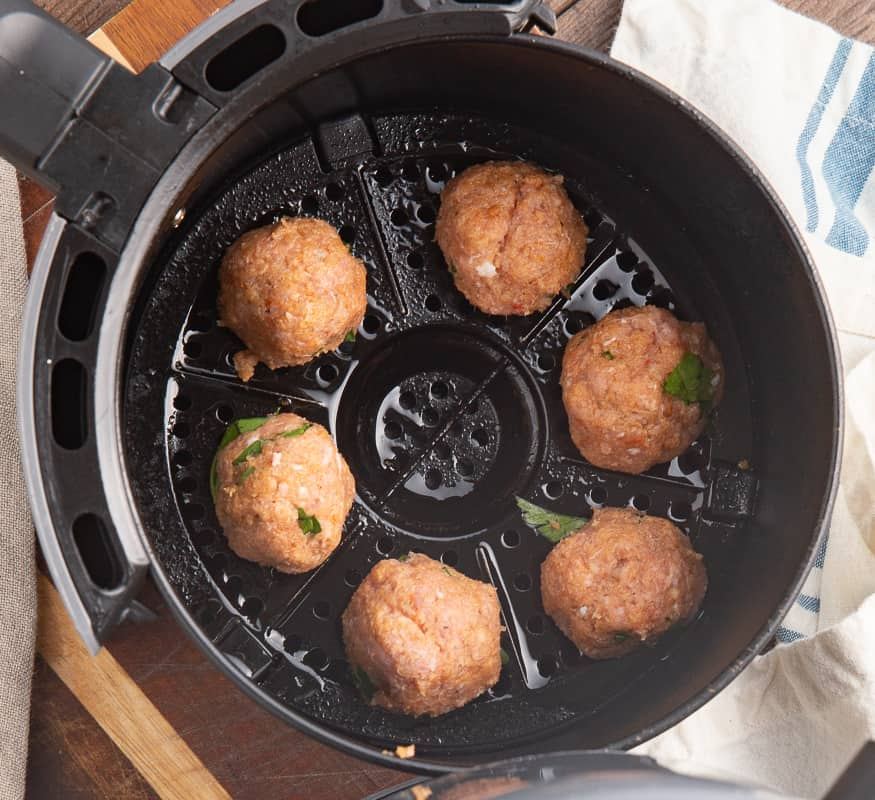 How to Air Fry Meatballs