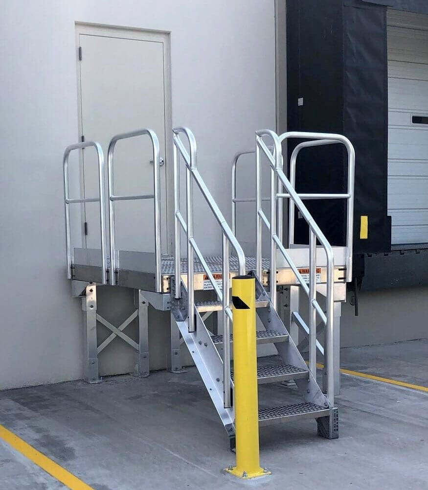 ErectaStep mill finish access stair unit
