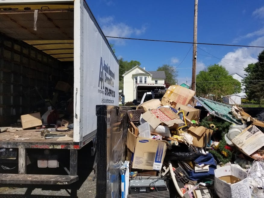Hoarded clutter cleanup Wilkes-Barre PA