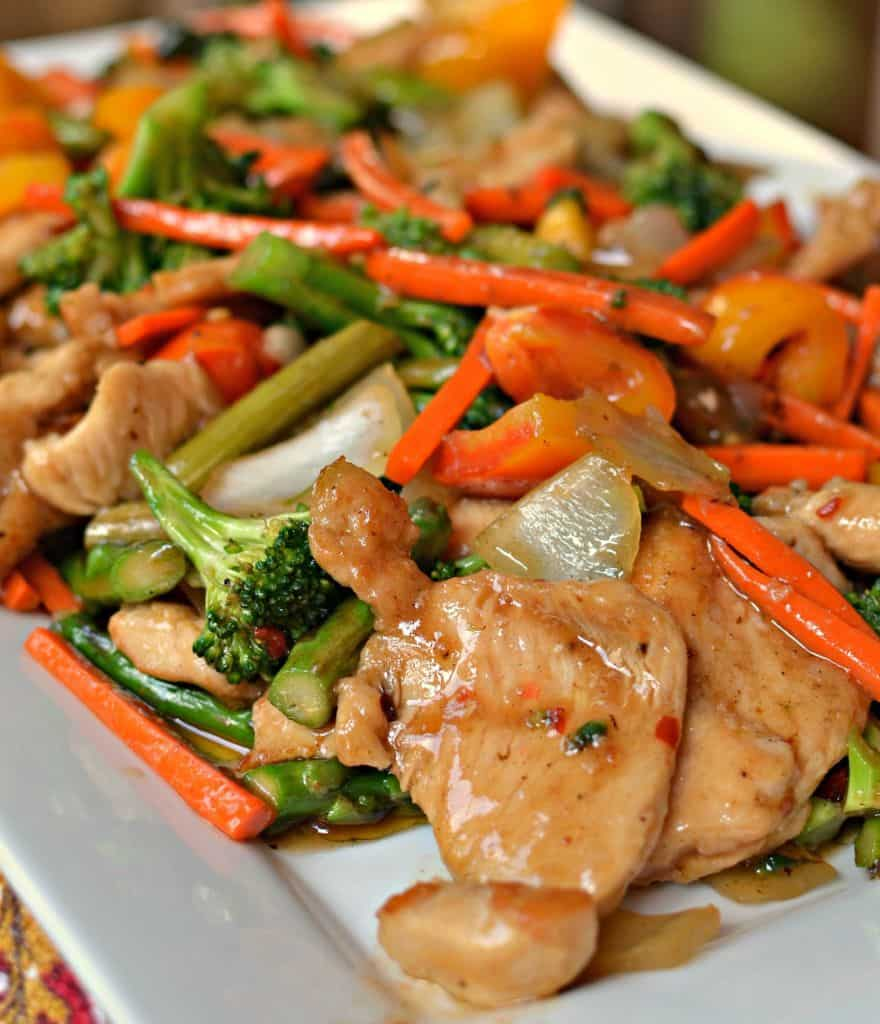 Easy Basic Chicken Stir Fry | Small Town Woman