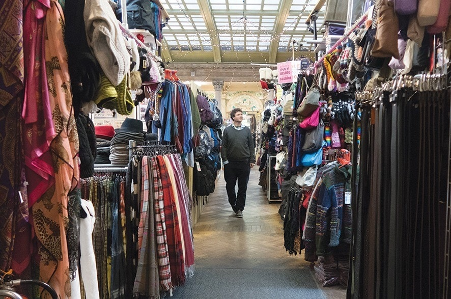 BRISTOL, ENGLAND - JANUARY 26:  Shoppers browse stalls in St Nicholas Market on January 26, 2017 in Bristol, England. Figures released for 2016 show that Bristol had the UK's fastest-growing economy outside of London and its house prices are the fastest-growing in the country. According to the Hometrack UK Cities House Price Index, property rose by 9.6 per cent in Bristol in 2016.  (Photo by Matt Cardy/Getty Images)