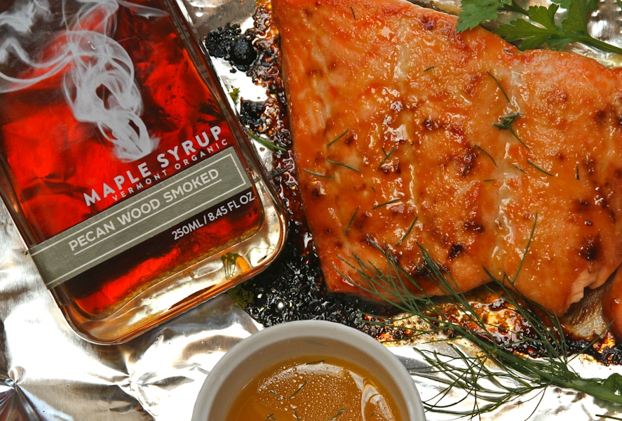 Smoked maple syrup and salmon by Runamok Maple