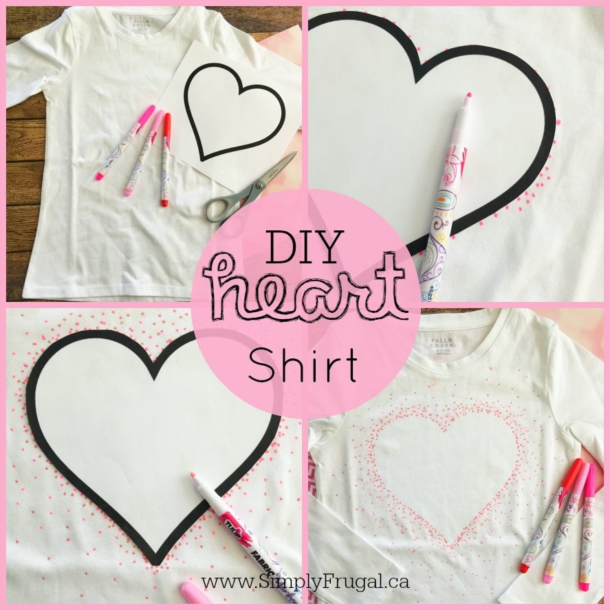 This easy heart shirt craft is so great! Such a sweet gift idea for Valentine's Day.