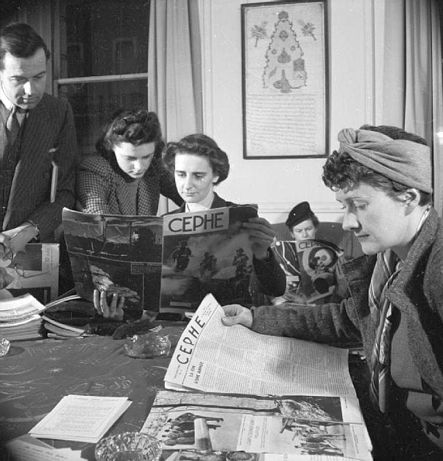 Picture: Imperial War Museum - Britons Learn Turkish- Adult Education in London, 1943. Source - Wikimedia Commons IWM Non Commercial Licence