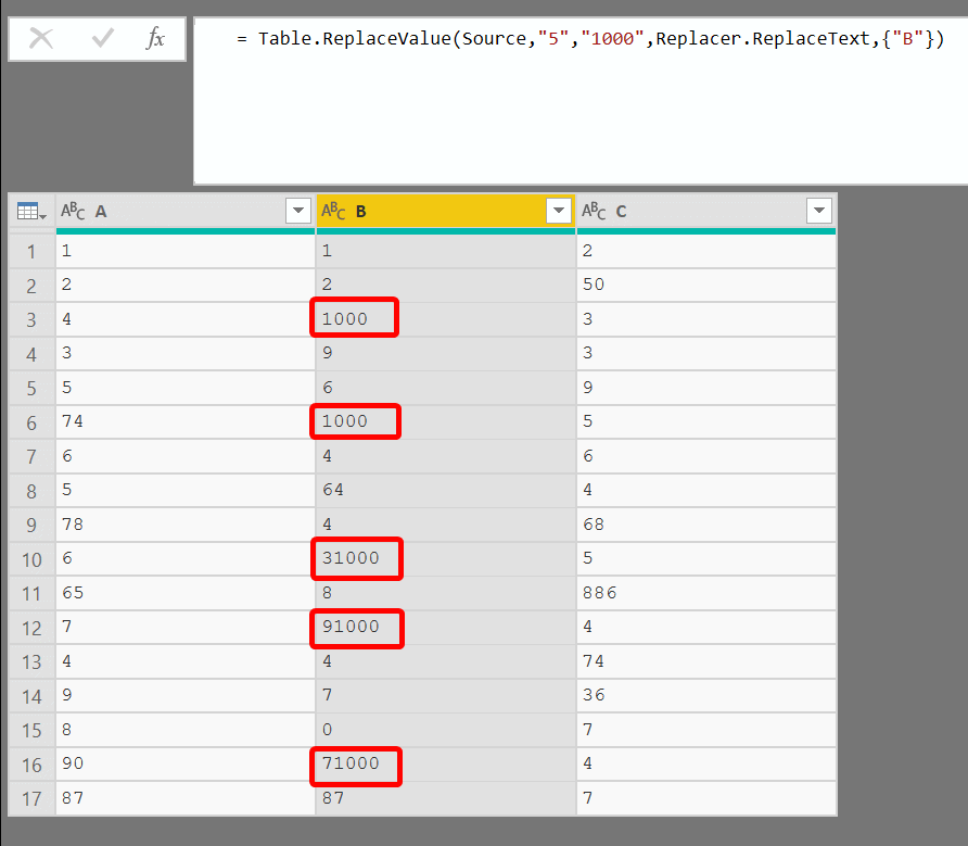 Replace Values in Power Query