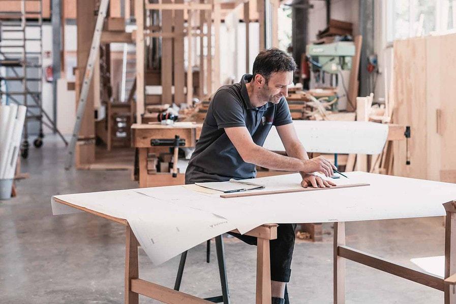Orgelbau, Zeichentisch, Ingenieur, Werkstatt