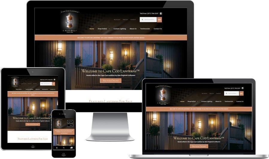 Cape Cod eCommerce website design