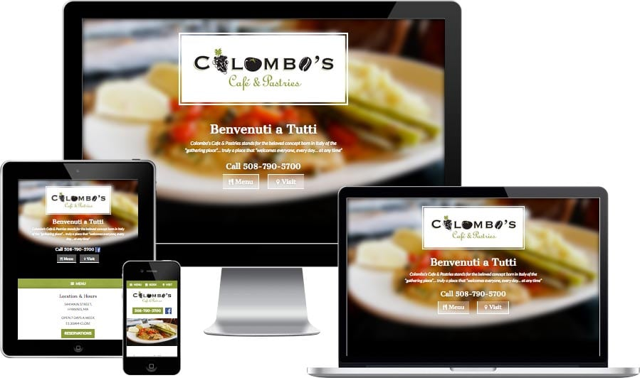 Cape Cod restaurant website design