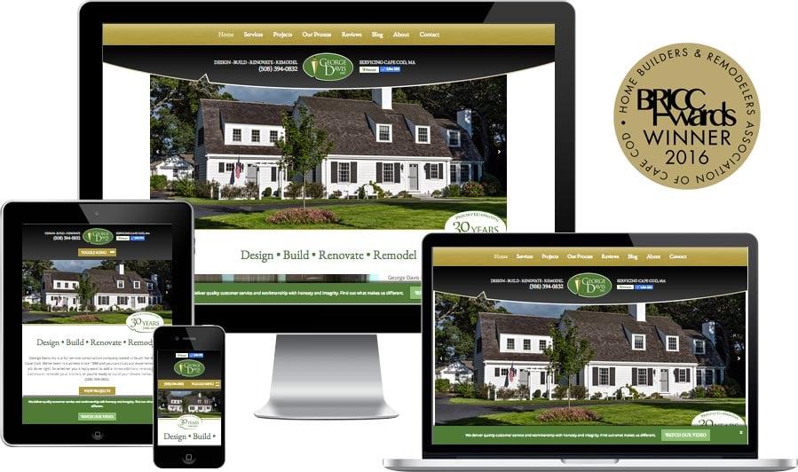 Cape Cod construction website design
