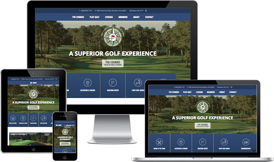 Cape Cod golf course website design