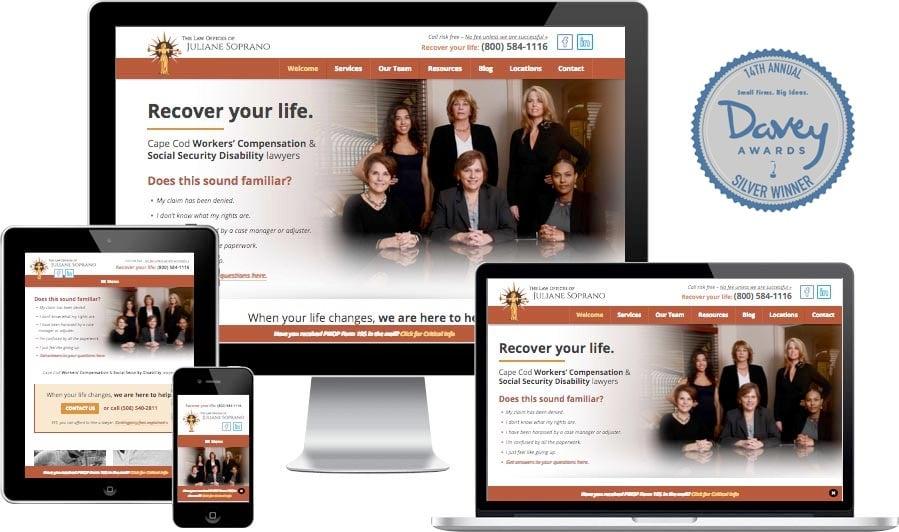 Cape Cod lawyer website design