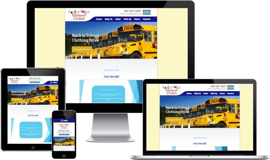 Cape Cod non-profit website design