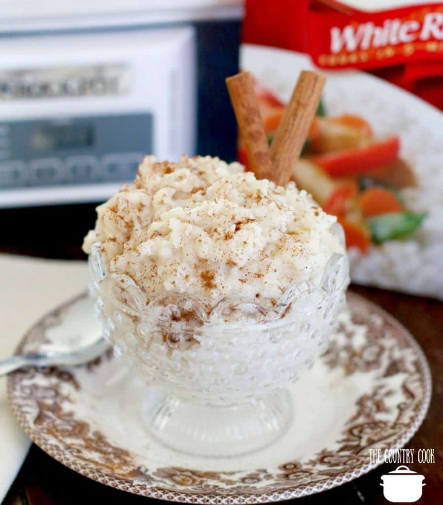 Crock Pot Rice Pudding made with minute rice