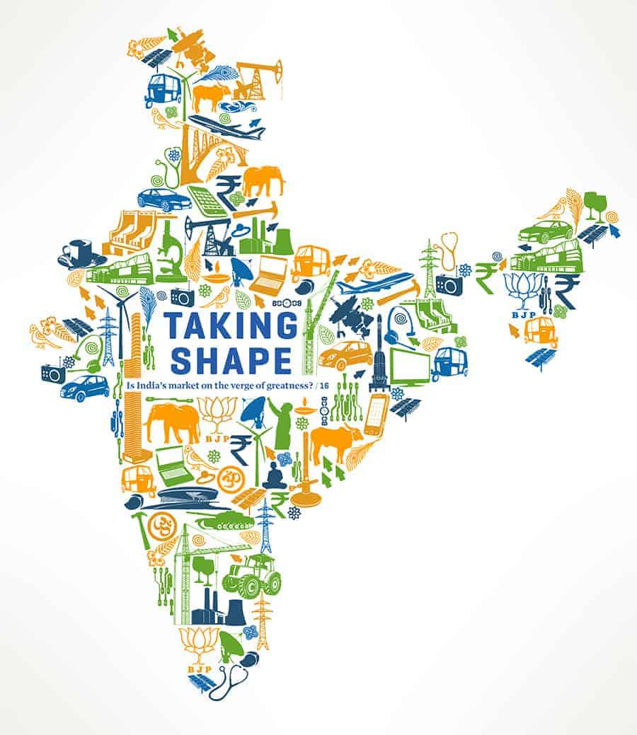 Jitesh Patel Illustration Modus Magazine India Map