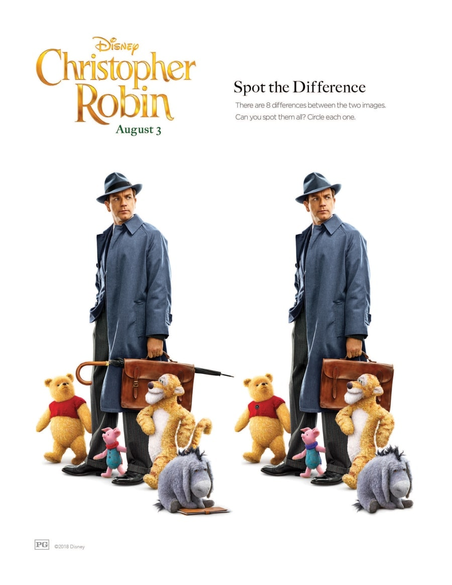 christopher robin activity sheets