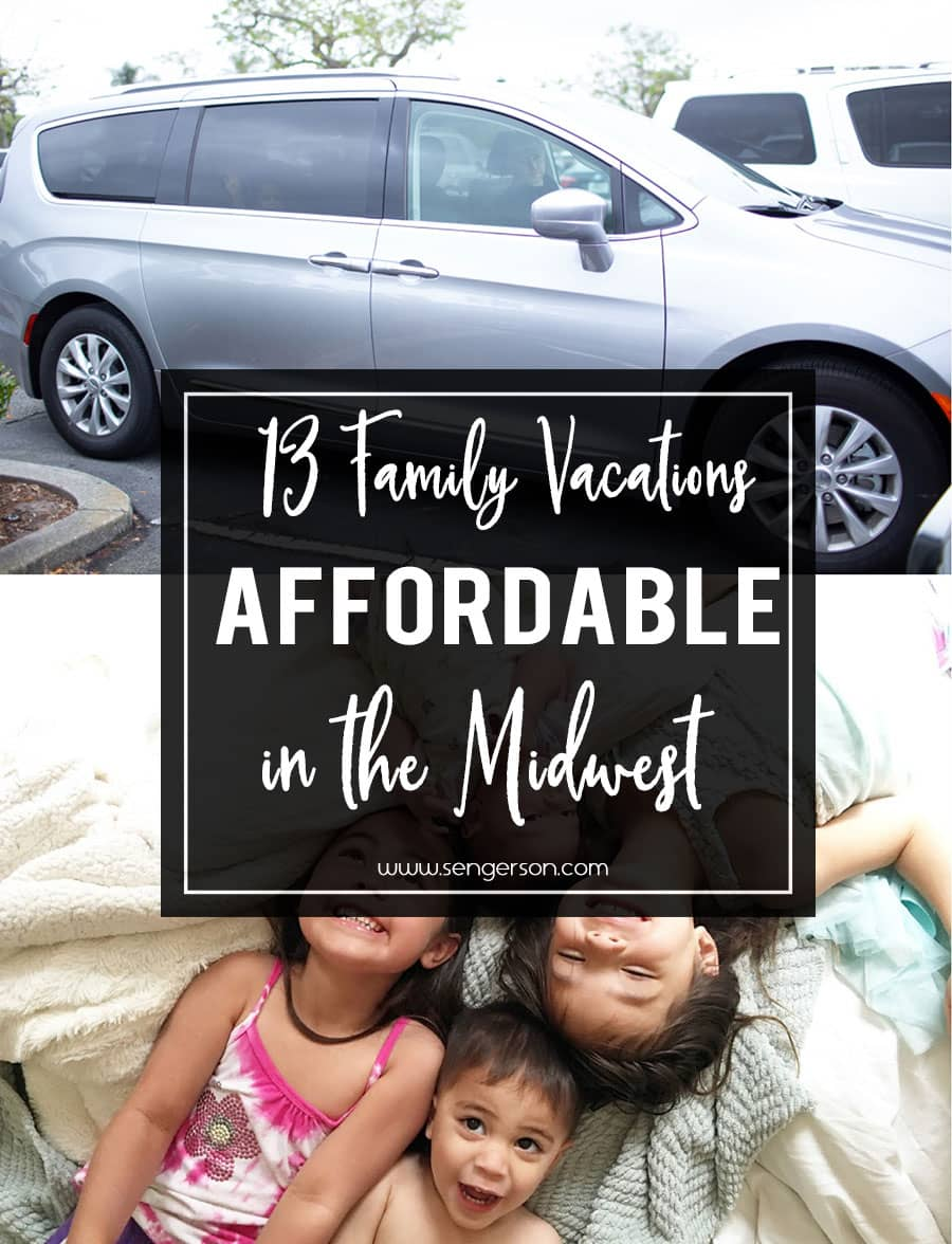 Are you looking for affordable midwest family vacations with kids? Here's a summary of various places (and links to other blogs)!