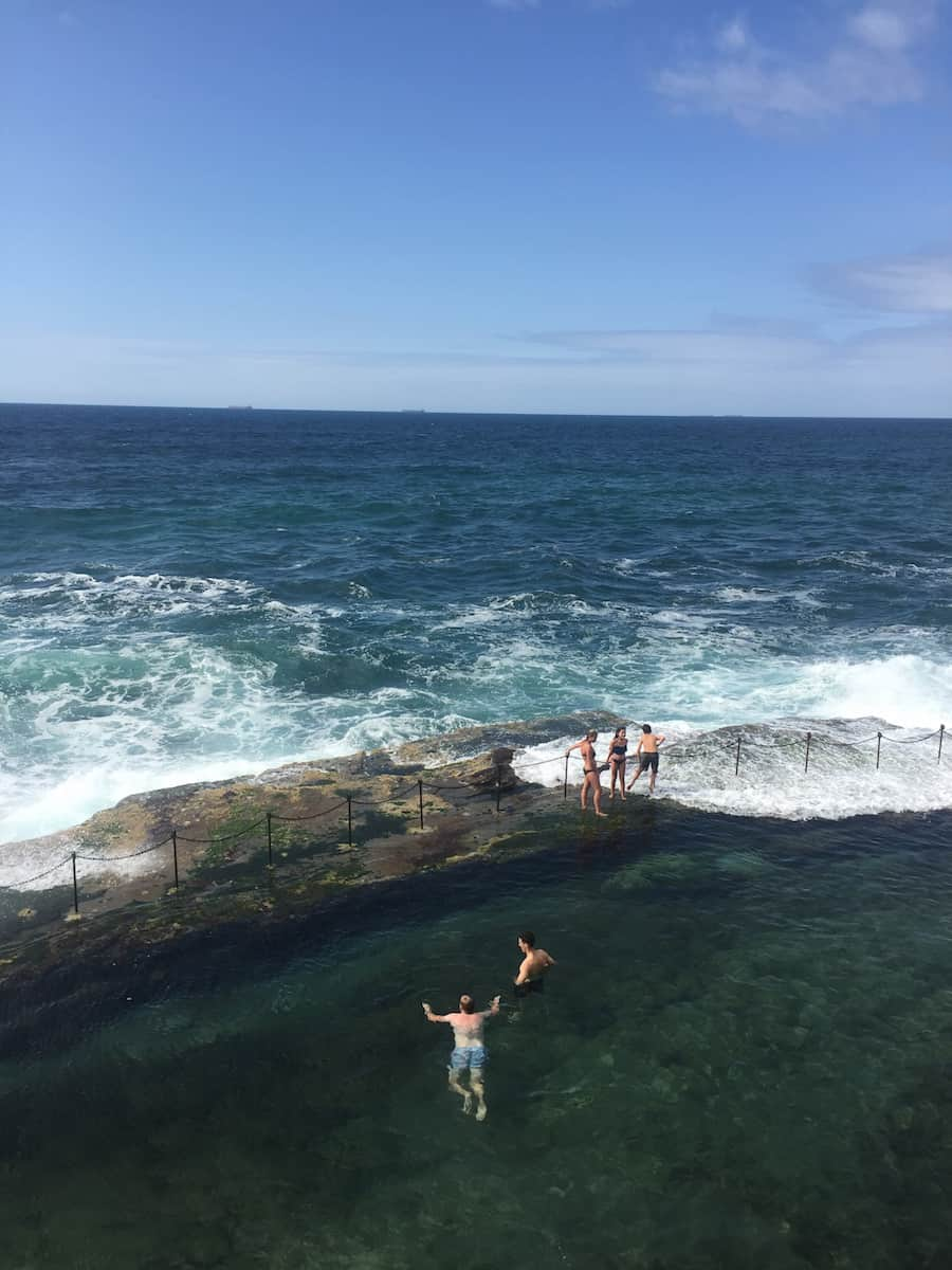 what to do in Newcastle? Go swimming at the Bogey Hole.