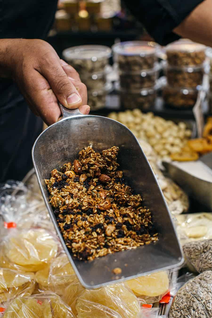 granola at Mizrahi in Mahane Yehuda market
