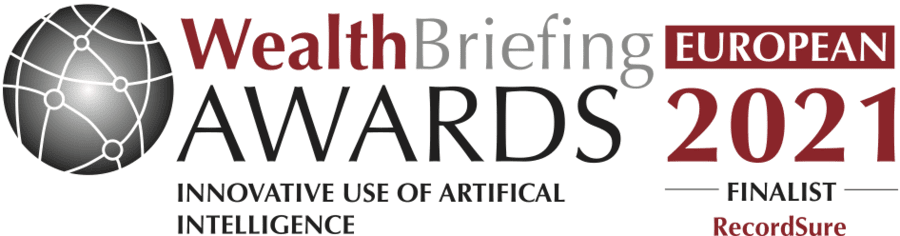 Recordsure WealthBriefing Award Finalist for Innovation in AI
