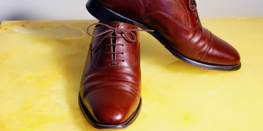 darkened brown boots
