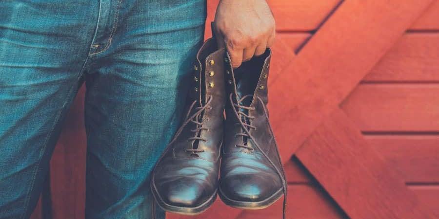 darken brown or tan boots