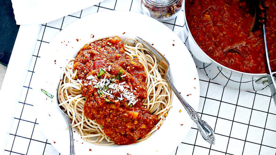 bolognese sauce, gluten free