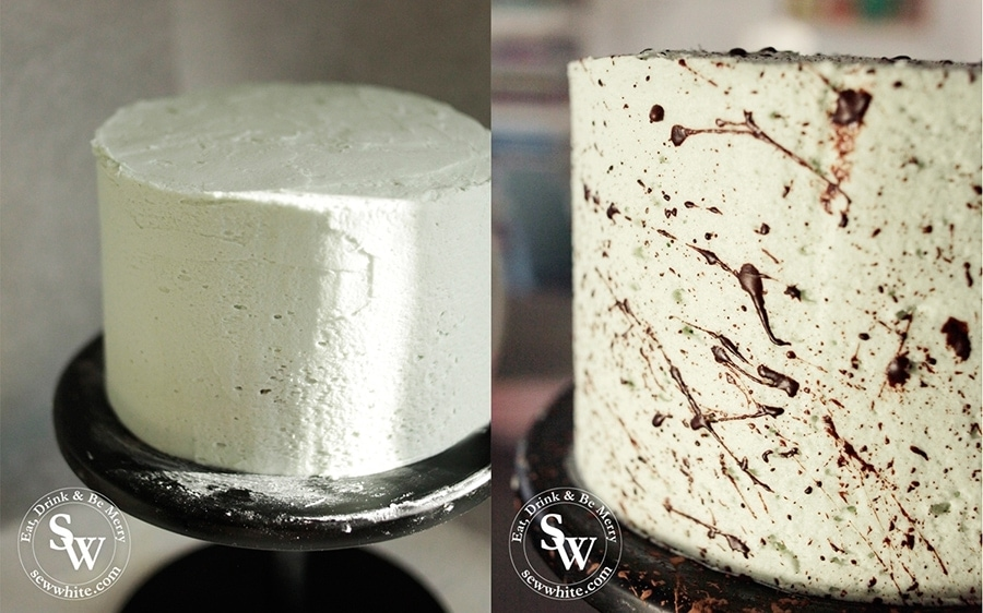 how to make a chocolate speckled cake