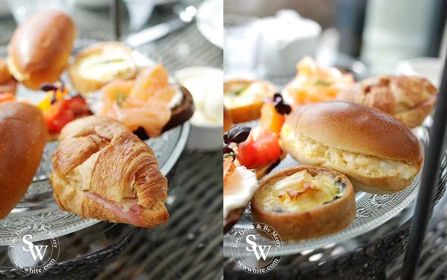 Savoury afternoon tea pieces at Hotel du Vin wimbledon.