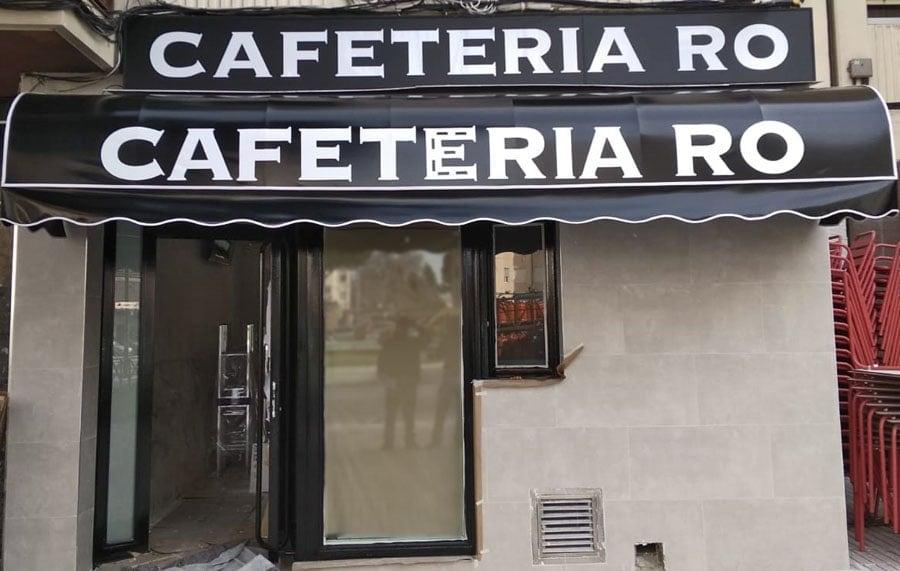 toldo capota cafeteria