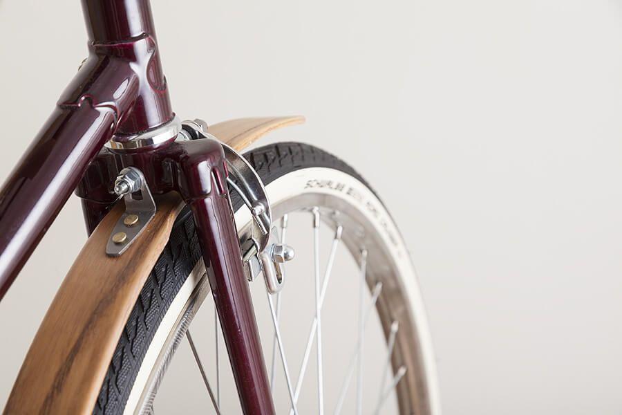 Błotniki rowerowe miejskie drewniane - B 040