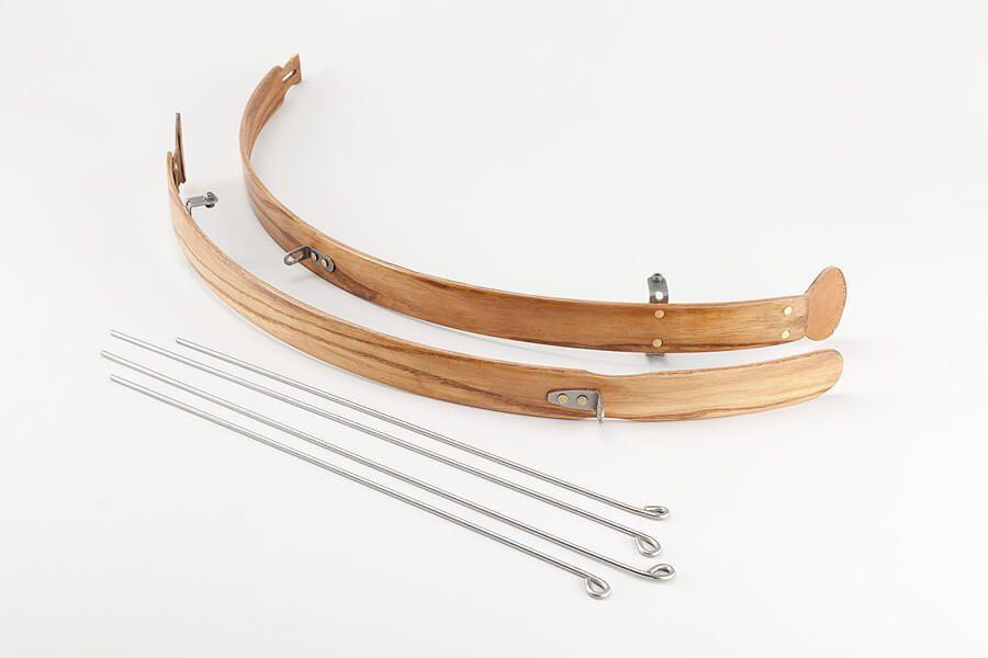 Błotniki rowerowe drewniane z chlapaczem skórzanym - B 040