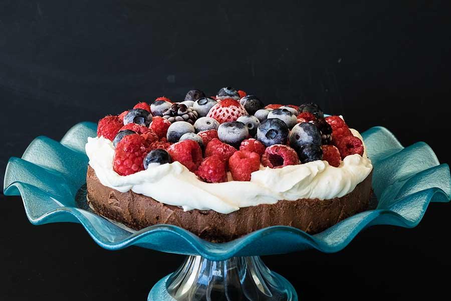 chocolate cake, no bake, grain free, vegan