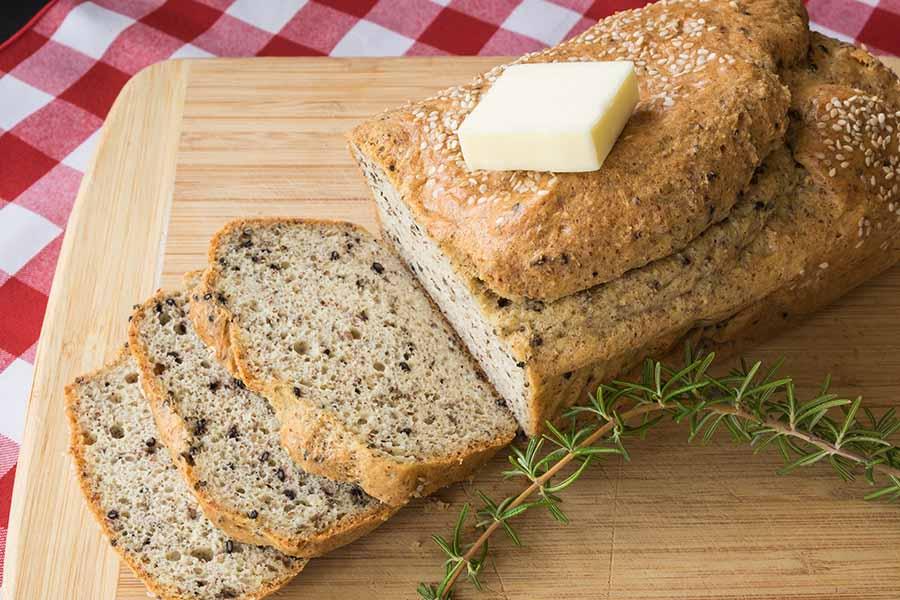 keto, bread, seeds