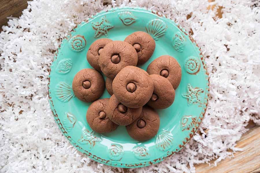 nutella, cookies, chocolate, hazelnut, Christmas