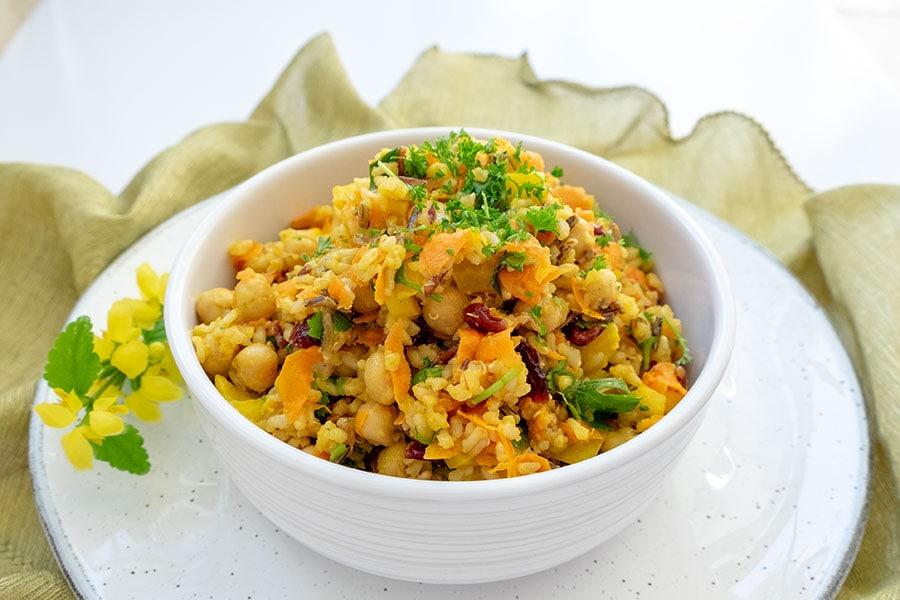 rice salad, moroccan, gluten free