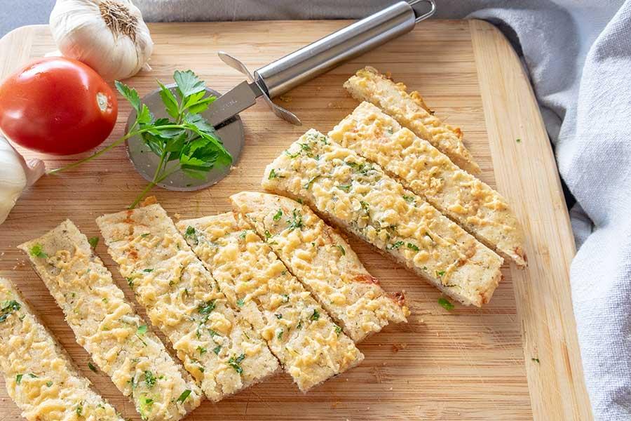 cheese garlic flatbread, gluten free