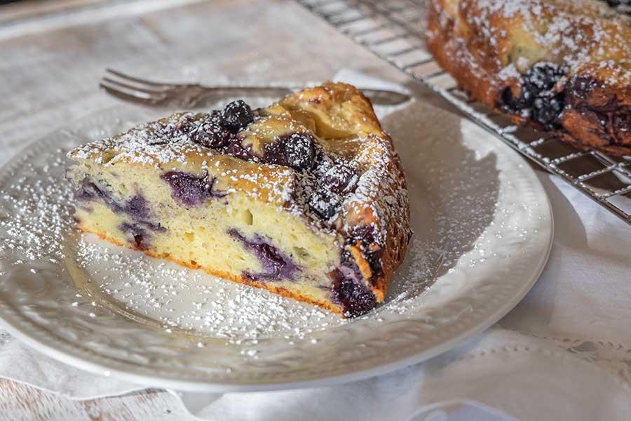 ricotta blueberry breakfast cake, gluten free