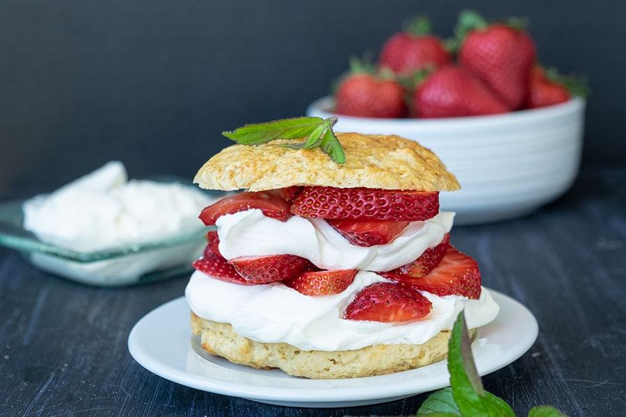 strawberry shortcake, gluten free